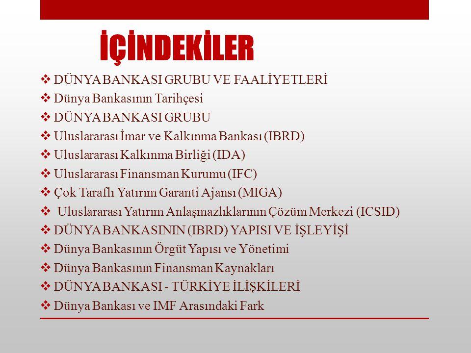 Ayrı bir tüzel kişiliği olan IDA 1960 yılında kurulmuş olup, Türkiye aynı yıl bu birliğe üye olmuştur.
