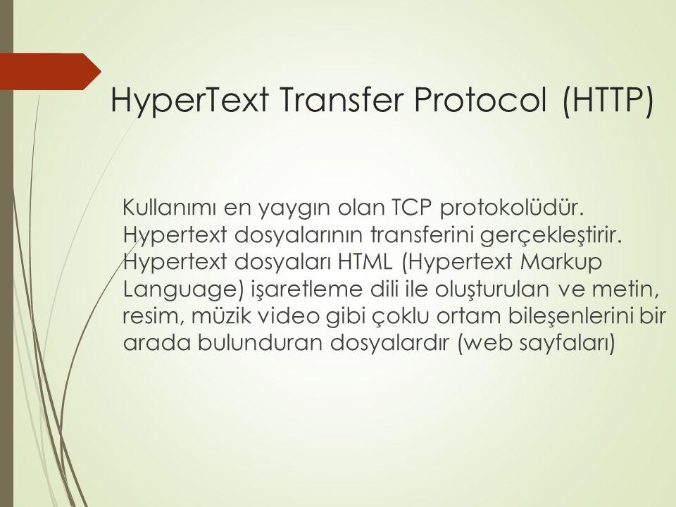 File Transfer Protocol (FTP) Sunucu ve istemci bilgisayarlar arasındaki çift yönlü dosya transferine olanak sağlayan TCP protokolüdür.