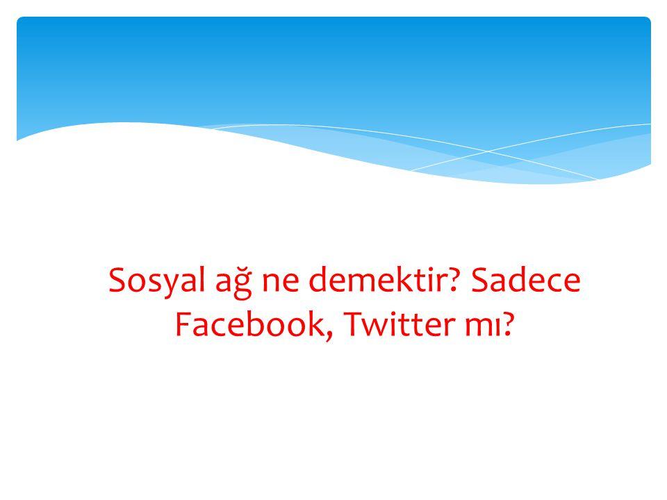 Sosyal ağ ne demektir? Sadece Facebook, Twitter mı?