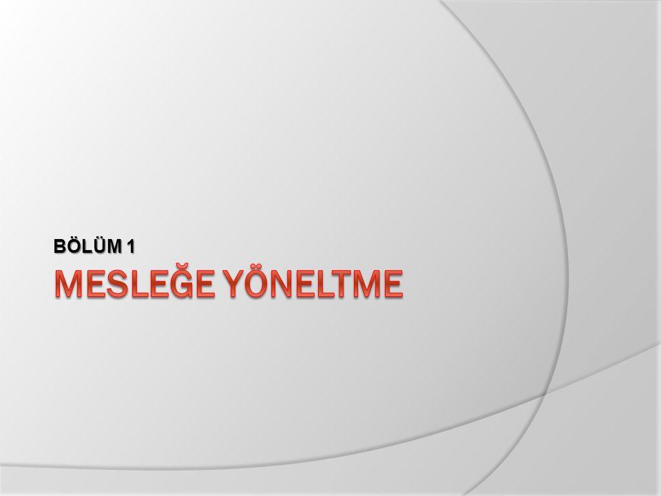 Mesleki ve Teknik Eğitimin Türkiye'deki Yeri  Mesleki ve teknik eğitime ülkemizde son yıllarda daha çok önem verilmeye başlamıştır.
