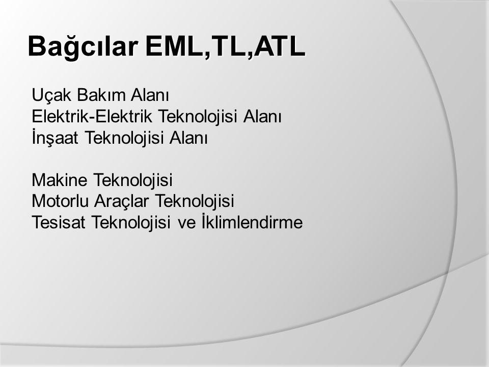 Bağcılar EML,TL,ATL Uçak Bakım Alanı Elektrik-Elektrik Teknolojisi Alanı İnşaat Teknolojisi Alanı Makine Teknolojisi Motorlu Araçlar Teknolojisi Tesis