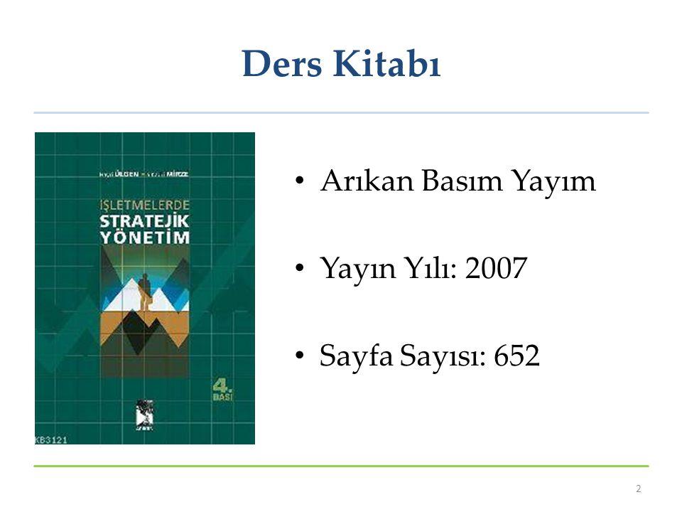 Ders Kitabı Arıkan Basım Yayım Yayın Yılı: 2007 Sayfa Sayısı: 652 2