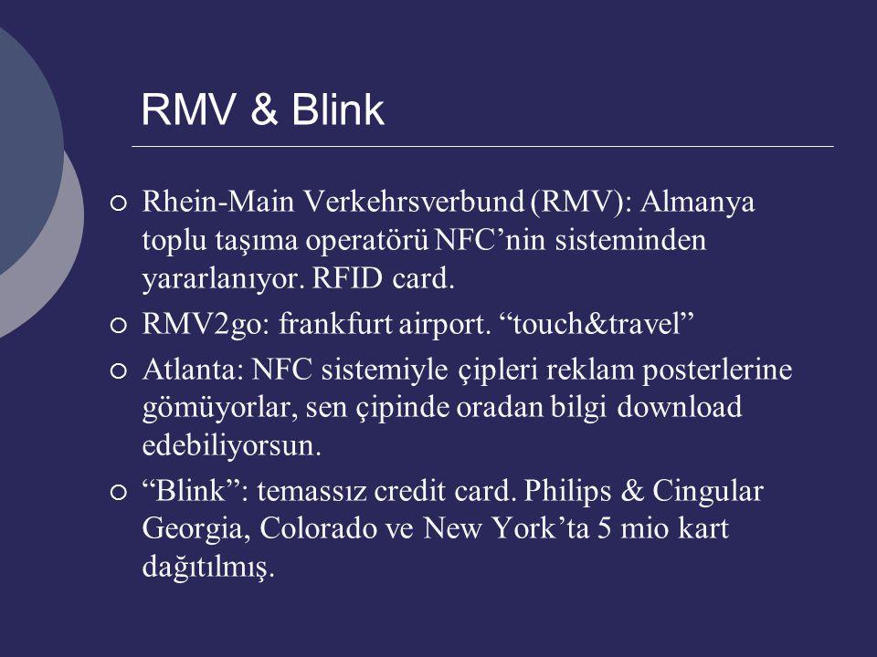 " Rhein-Main Verkehrsverbund (RMV): Almanya toplu taşıma operatörü NFC'nin sisteminden yararlanıyor. RFID card.  RMV2go: frankfurt airport. ""touch&tr"