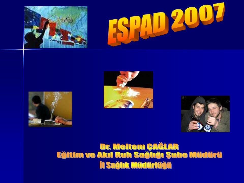 ESPAD çalışması daha önce 3 kez yapılmıştı..1. kez 1995 de 26 Avrupa ülkesi 1.
