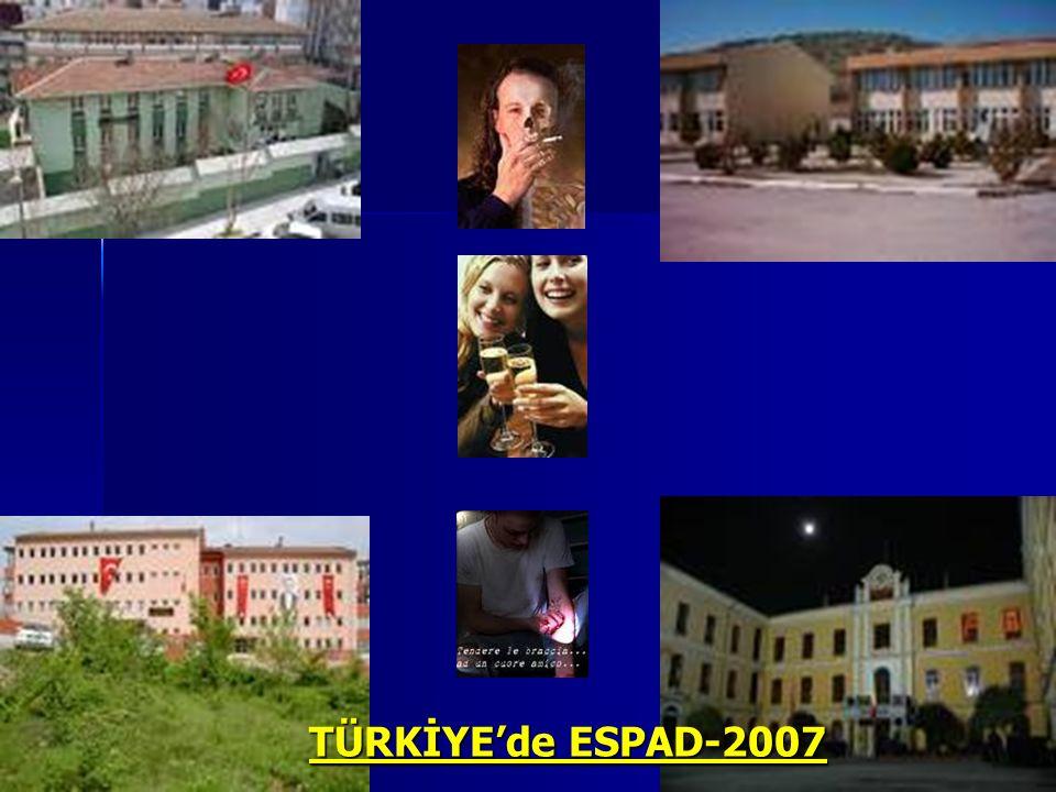 TÜRKİYE'de ESPAD-2007