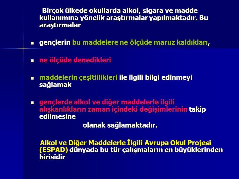 TÜRKİYE'de ESPAD-2007 Genel Koordinatör: Doç.Dr.Nesrin DİLBAZ Genel Koordinatör: Doç.Dr.Nesrin DİLBAZ 0-312-395 95 95 0-312-395 95 95 Merkez: Ankara AMATEM dir.