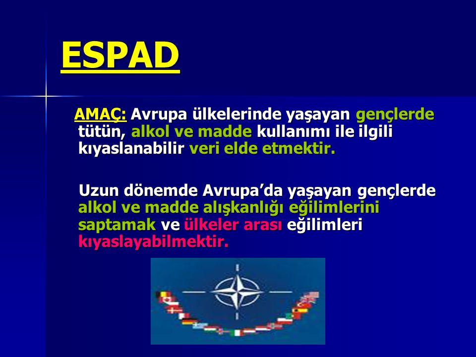TÜRKİYE'de ESPAD-2007 Eylem Planı Kasım-Aralık 2006 da ESPAD anket formunun son versiyonundaki sorular tercüme edilmiştir.