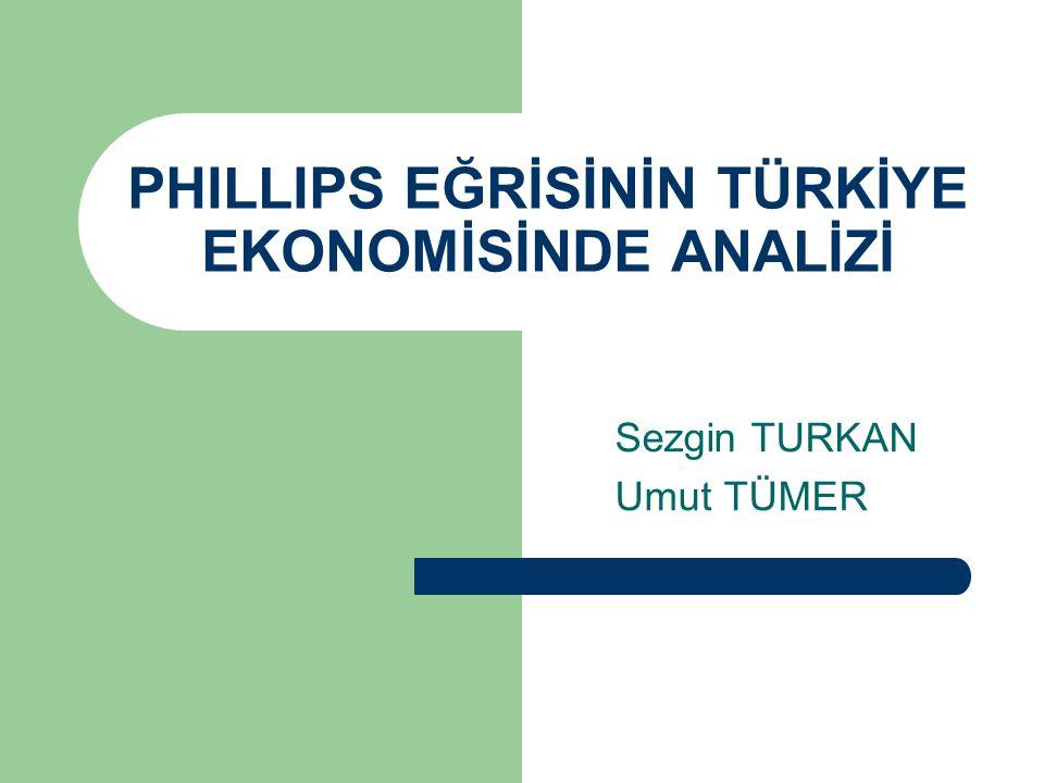 İÇERİK Giriş – Phillips Eğrisi Tanımı ve Analizi – Kısa-Dönem Etkiler – Uzun-Dönem Etkiler Gelişme – Türkiye'de Enflasyon ve İşsizlik ilişkisinin dönemsel incelemeleri 1970-1980 Dönemi Analizi 1981-1988 Dönemi Analizi 1988-1999 Dönemi Ekonometri Analizi 2001 Sonrası Analiz – Phillips Eğrisi Karşıtı görüşler Sonuç