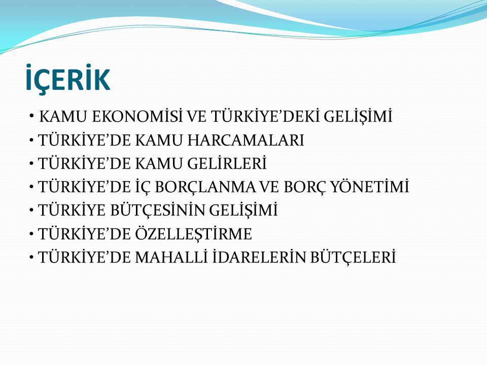 Kamu Harcamalarının Sınıflandırılması ve Türkiye'deki Durum Kamu harcamaları idari (kurumsal), işlevsel (fonksiyonel) ve ekonomik sınıflandırmalara tabi tutulur.