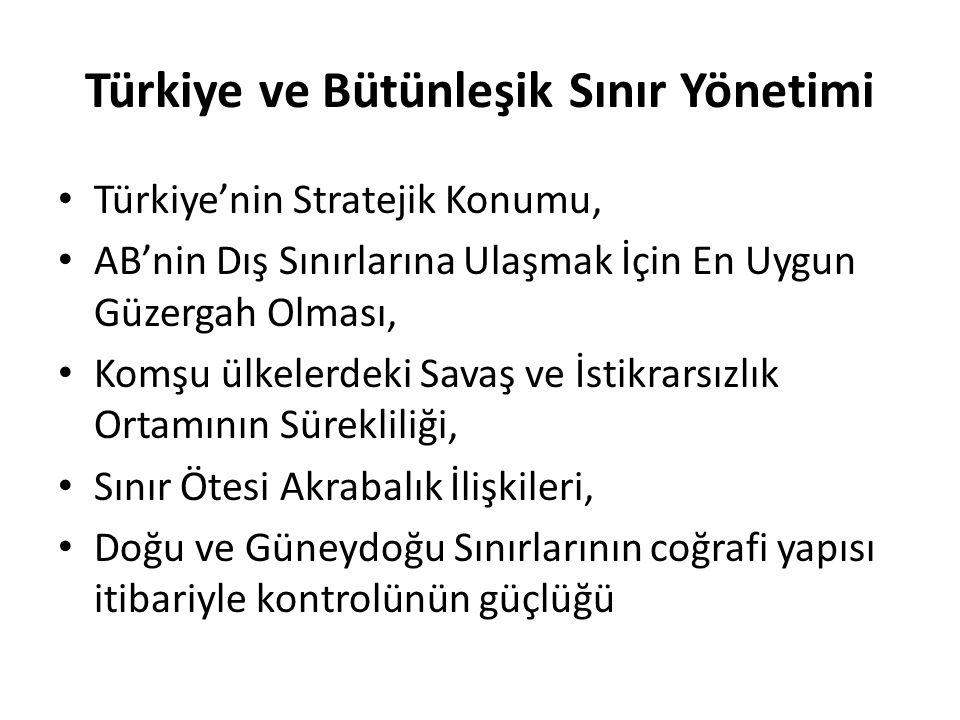 Türkiye ve Bütünleşik Sınır Yönetimi Türkiye'nin Stratejik Konumu, AB'nin Dış Sınırlarına Ulaşmak İçin En Uygun Güzergah Olması, Komşu ülkelerdeki Sav