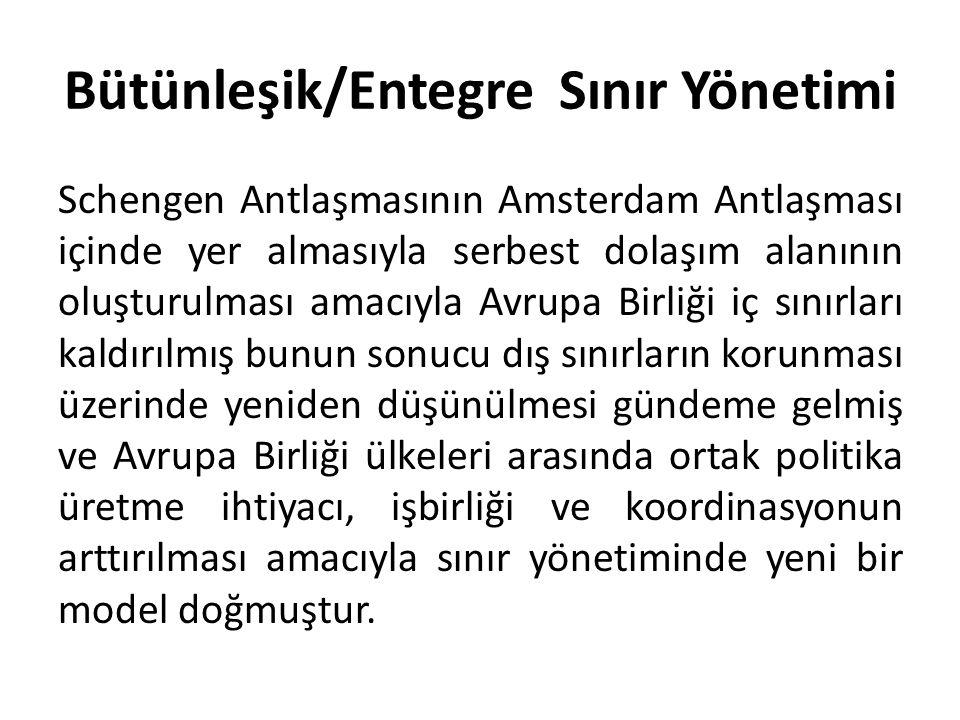 Bütünleşik/Entegre Sınır Yönetimi Schengen Antlaşmasının Amsterdam Antlaşması içinde yer almasıyla serbest dolaşım alanının oluşturulması amacıyla Avr