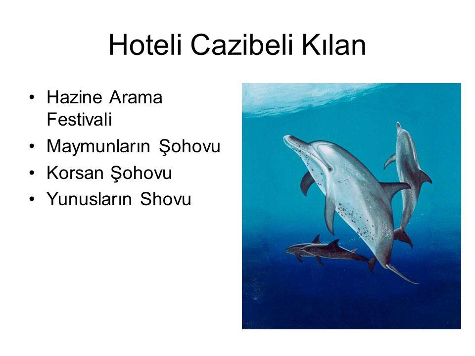 Hoteli Cazibeli Kılan Hazine Arama Festivali Maymunların Şohovu Korsan Şohovu Yunusların Shovu