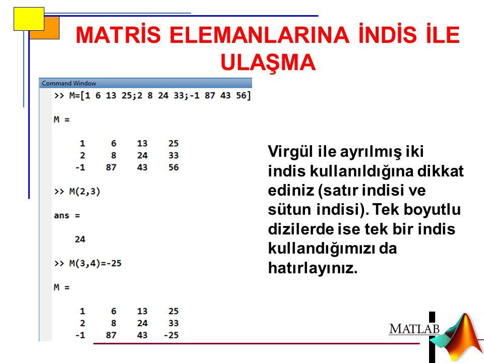 Kendisine M adındaki bir matrisi parametre olarak alan bir fonksiyon m-dosyası matrisin boyutuyla ilgili bir işlem yapıyorsa size(M) fonksiyonunu muhakkak kullanmak zorundadır.