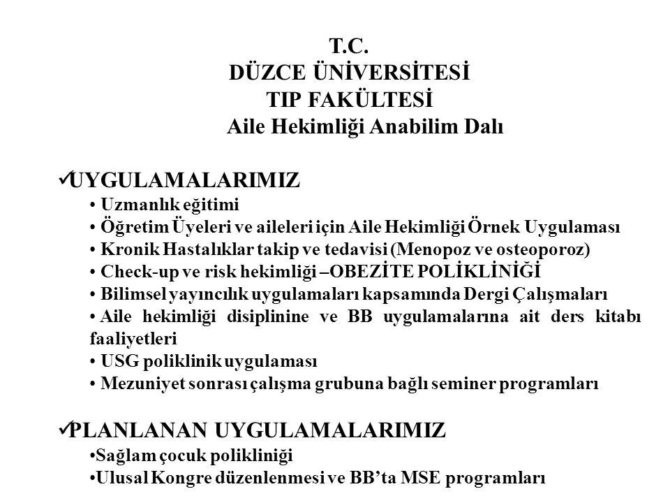 Aile Hekimliği AD 2009 İlk Asistan ve İntern Grubumuz Sağdan: Ahmet YASSA, Celaleddin YILMAZ, Mehmet TÜRKER, Dr.