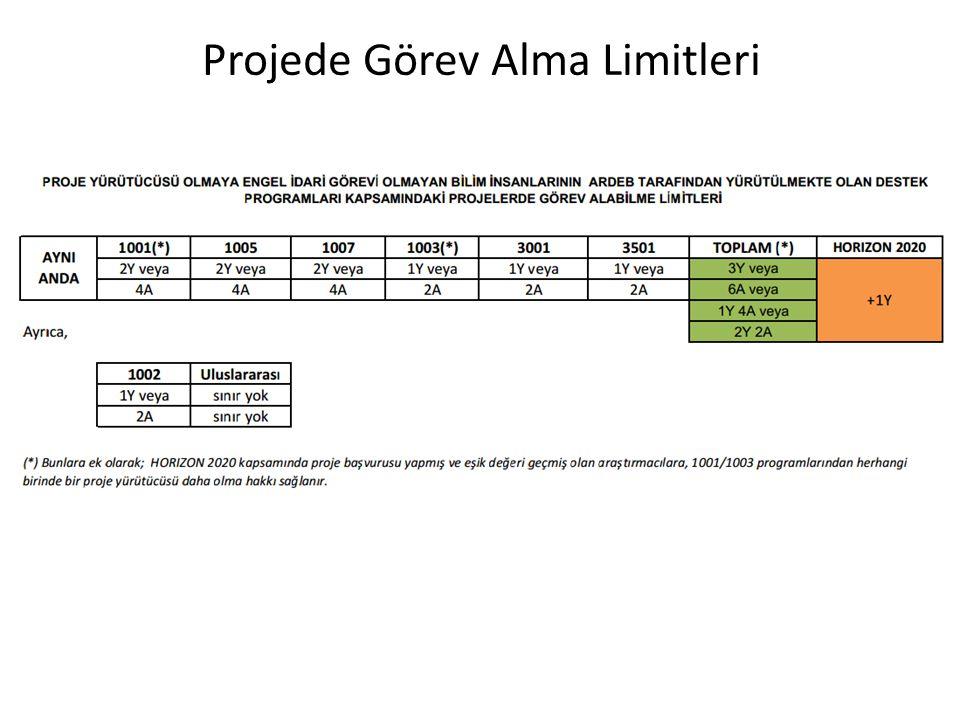 Projede Görev Alma Limitleri