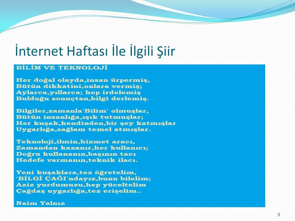 İnternet Haftası İle İlgili Şiir 9