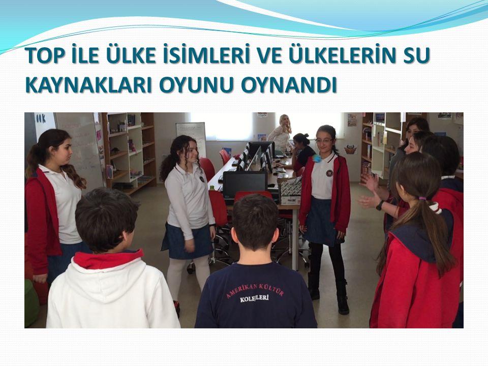 TOP İLE ÜLKE İSİMLERİ VE ÜLKELERİN SU KAYNAKLARI OYUNU OYNANDI