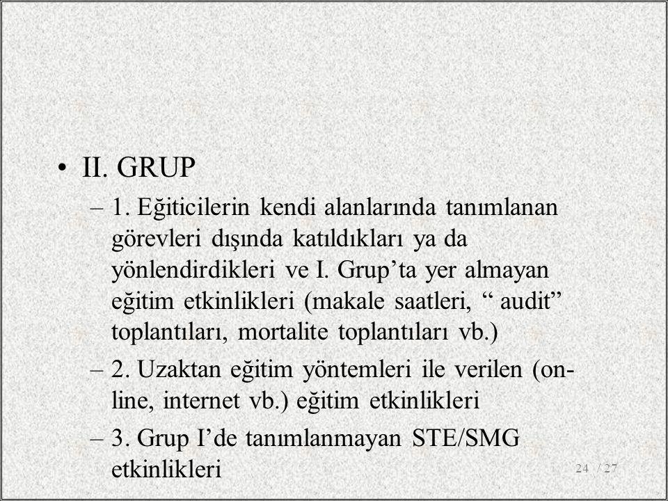 II. GRUP –1.