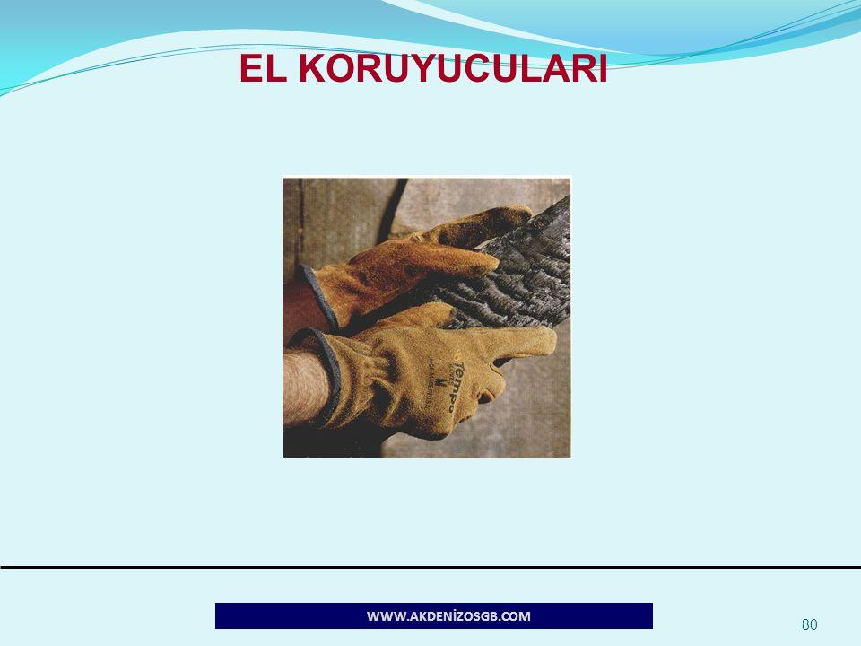 80 WWW.AKDENİZOSGB.COM EL KORUYUCULARI