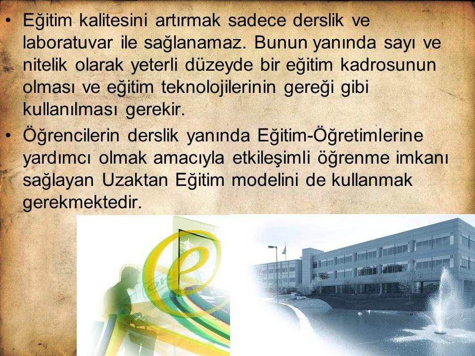 HEDEF Türkiye'nin bilgi toplumuna dönüşmesine yüksek öğrenim düzeyinde destek olmak Bilgi ve iletişim teknolojilerinden yararlanan yeni bir eğitim modeliyle ülkemiz yüksek öğrenimi için yeni kapasite ve olanaklar sunmak.