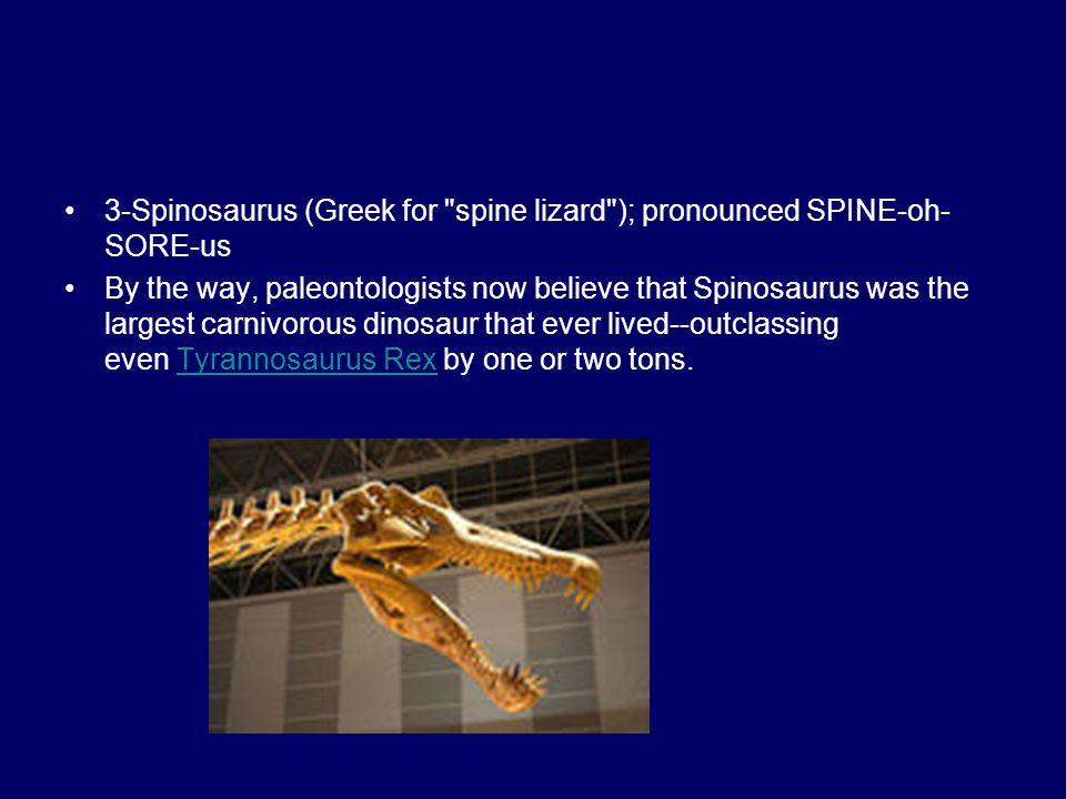 3-Spinosaurus (Greek for