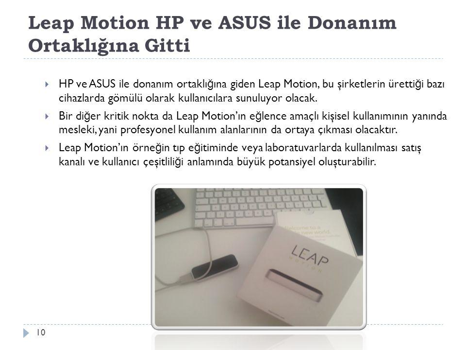 Leap Motion HP ve ASUS ile Donanım Ortaklığına Gitti 10  HP ve ASUS ile donanım ortaklı ğ ına giden Leap Motion, bu şirketlerin üretti ğ i bazı cihaz