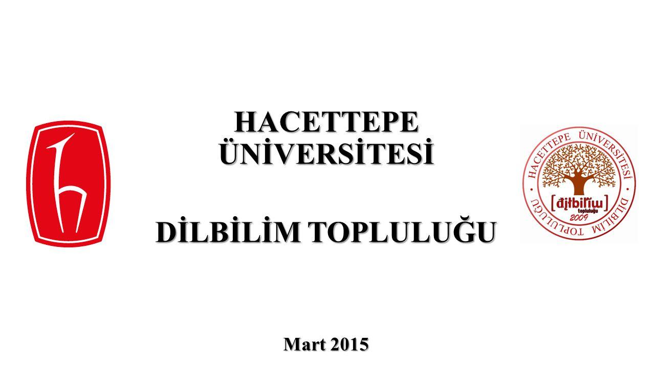 Hacettepe Üniversitesi Dilbilim Topluluğu, ülkemizde dilbilimin tanınması, bu bilim dalının mevcut kaynak ve potansiyelinden üniversite bünyesinde bulunan bütün öğrencilerin yararlanabilmesi amacıyla 2009 yılında kurulmuş olan gönüllü bir öğrenci organizasyonudur.