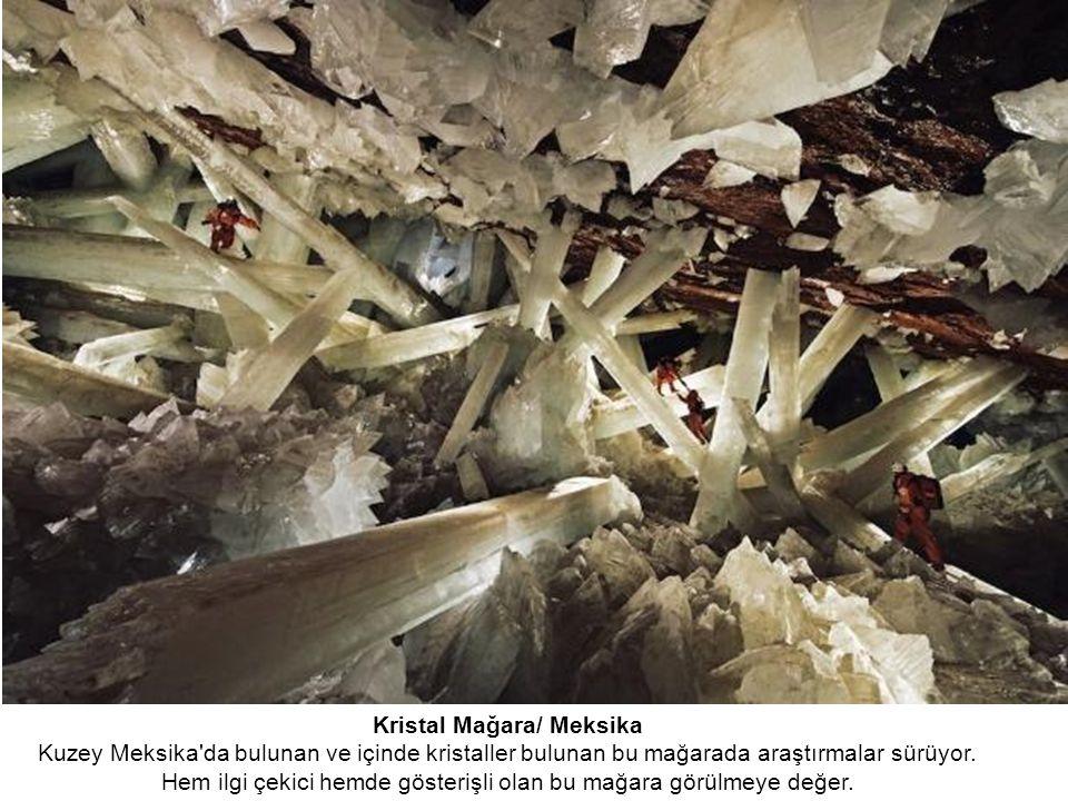 Kristal Mağara/ Meksika Kuzey Meksika da bulunan ve içinde kristaller bulunan bu mağarada araştırmalar sürüyor.