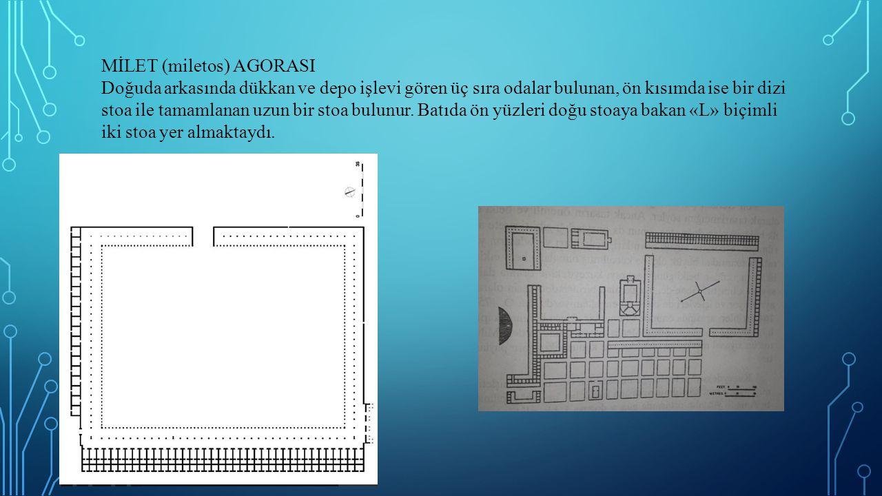 PRİENE AGORASI Priene Agorası kentin diğer yapılarıyla beraber M.Ö.