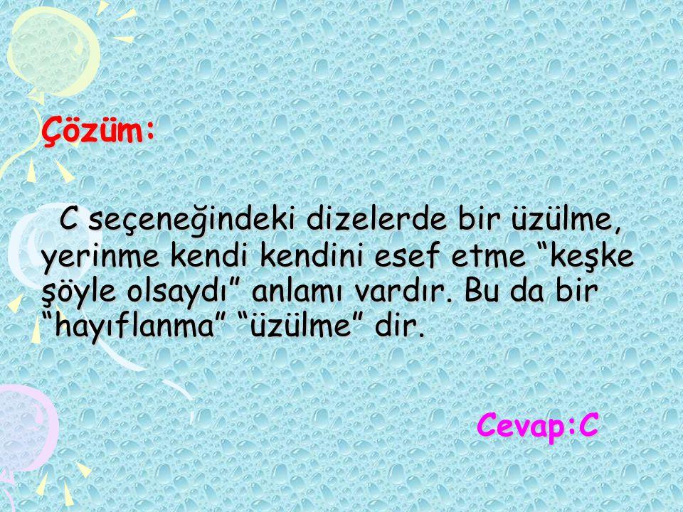 Örnekler: Onun bütün şiirlerinde buram buram Anadolu kokar.