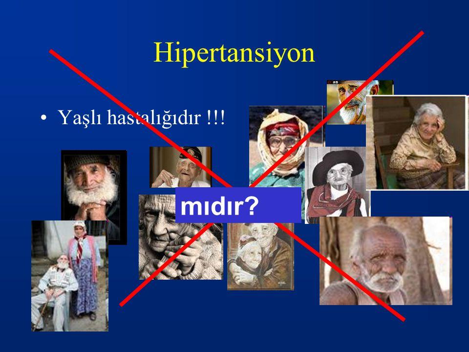 HİPERTANSİYON: TEDAVİ 1.İLAÇ DIŞI TEDAVİ (Yaşam şekli değiştirme) 2.İLAÇLA TEDAVİ Hipertansiyon tipiHipertansiyon tipi Oluşan semptomlarOluşan semptomlar Hedef organ hasarıHedef organ hasarı Risk faktörlerinin bulunmasıRisk faktörlerinin bulunması Çocuğun yaşı Hipertansiyon evresi Önceki tedaviye alınan yanıt (NHBPEP 2004; Luma,Spiotta 2006) (NHBPEP 2004; Luma,Spiotta 2006)