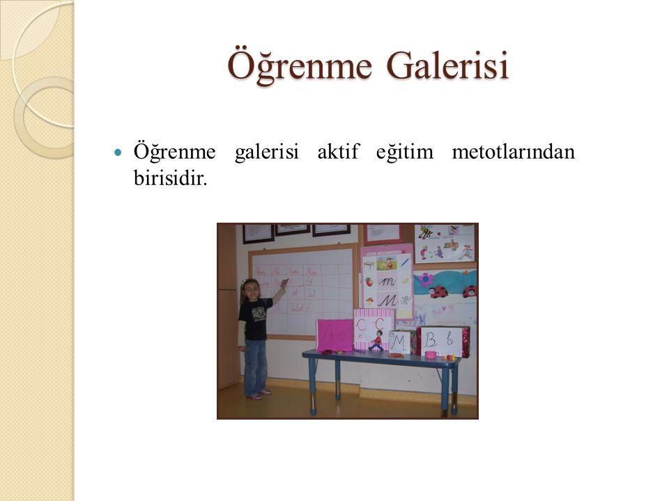 Öğrenme Galerisi Öğrenme galerisi aktif eğitim metotlarından birisidir.