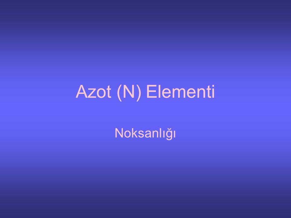Azot (N) Elementi Noksanlığı