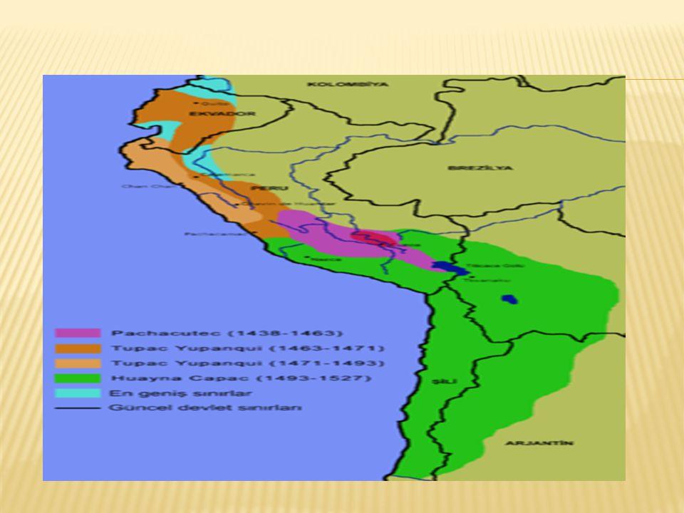 , Güney Amerika nın batı kıyısındaki And Dağları bölgesindeki Cuzco şehri civarında kurulmuşlardır.Başkenti cuzco'dur.Güney AmerikaAnd DağlarıCuzco