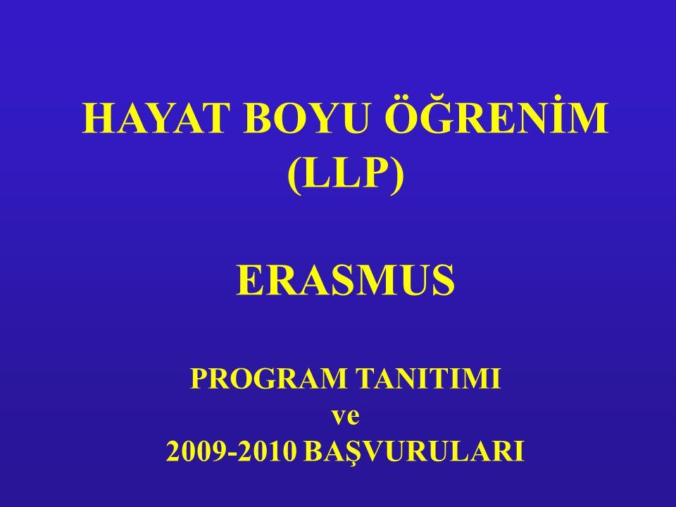 HAYAT BOYU ÖĞRENİM (LLP) ERASMUS PROGRAM TANITIMI ve 2009-2010 BAŞVURULARI