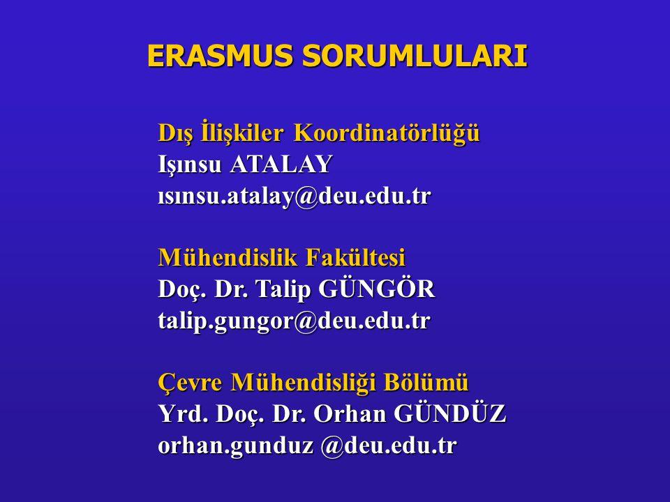 HAYAT BOYU ÖĞRENME(LLP)/ERASMUS Programı ERASMUS programı Avrupalı yüksek öğretim kurumlarının birbirleri ile işbirliği yapmalarını teşvik etmeye yönelik bir Avrupa Birliği programıdır.