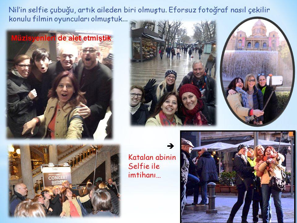 Döne döne,ses getire getire selfie metodunun mucidi Nil, Katalanlara Plaça Reial'de kurs açtı...