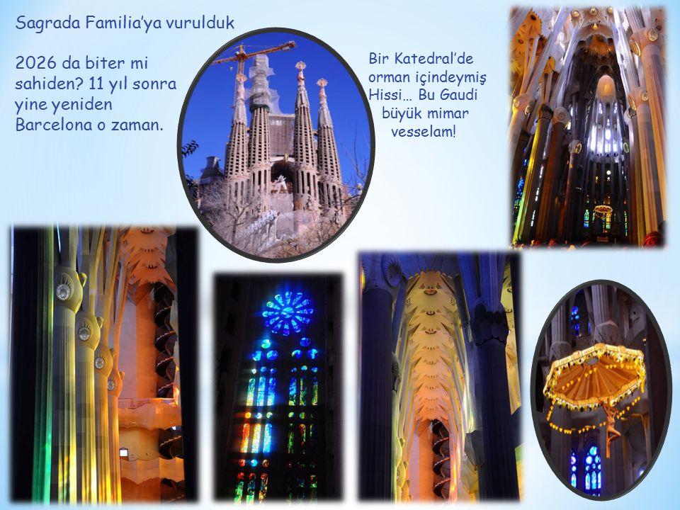 Sagrada Familia'ya vurulduk 2026 da biter mi sahiden? 11 yıl sonra yine yeniden Barcelona o zaman. Bir Katedral'de orman içindeymiş Hissi… Bu Gaudi bü