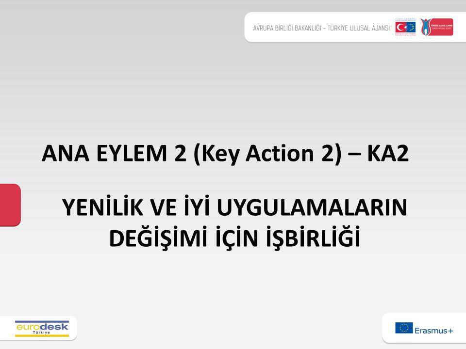 YENİLİK VE İYİ UYGULAMALARIN DEĞİŞİMİ İÇİN İŞBİRLİĞİ ANA EYLEM 2 (Key Action 2) – KA2