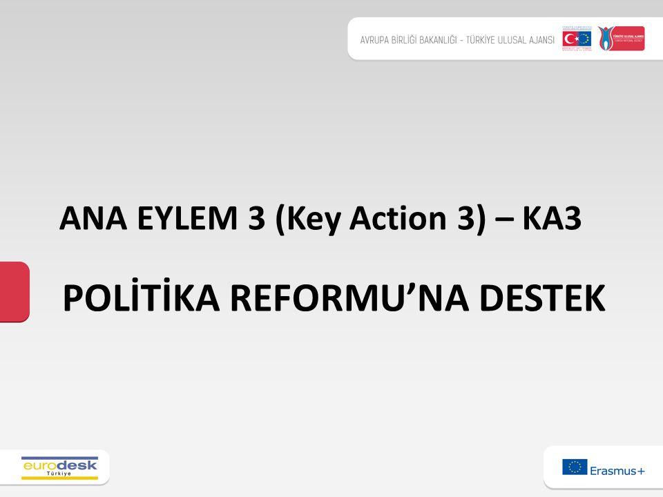 POLİTİKA REFORMU'NA DESTEK ANA EYLEM 3 (Key Action 3) – KA3