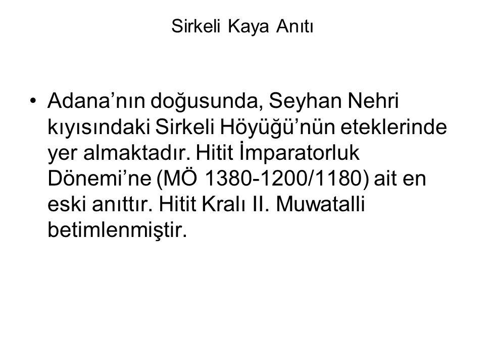Sirkeli Kaya Anıtı Adana'nın doğusunda, Seyhan Nehri kıyısındaki Sirkeli Höyüğü'nün eteklerinde yer almaktadır.