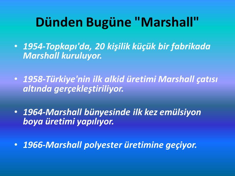 1967-Marshall bugünkü tesislerinin bulunduğu Gebze ye taşınıyor.