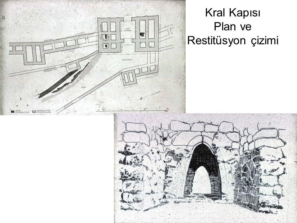 Kral Kapısı Plan ve Restitüsyon çizimi