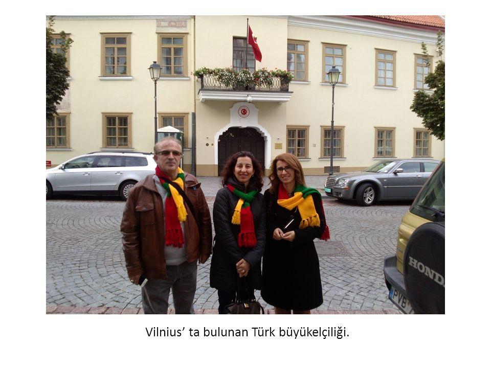Vilnius' ta bulunan Türk büyükelçiliği.