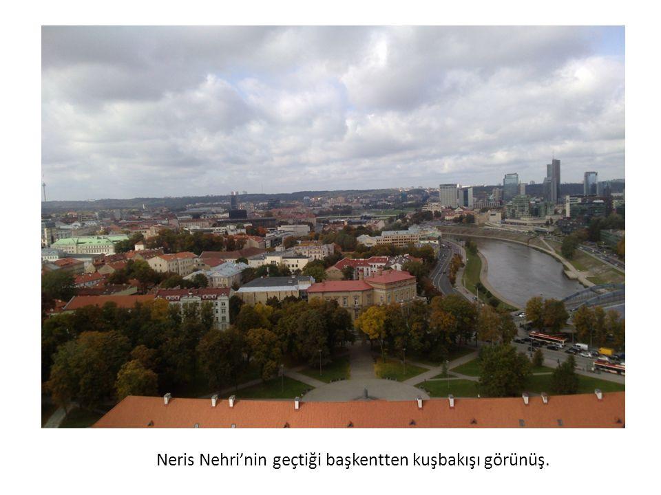 Neris Nehri'nin geçtiği başkentten kuşbakışı görünüş.