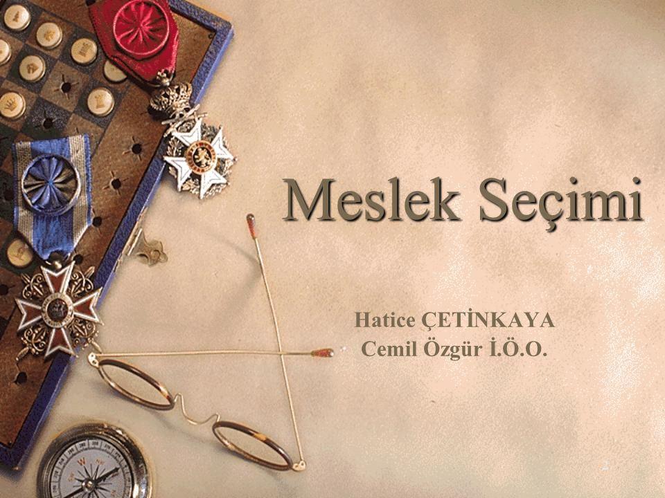 42 KAYNAKÇA AKBIYIK, Y.(2006). Mesleğe Yöneltme Semineri.