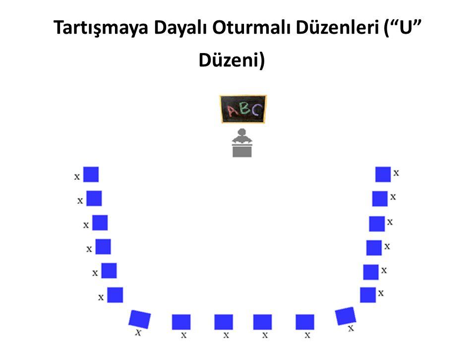 """Tartışmaya Dayalı Oturmalı Düzenleri (""""U"""" Düzeni)"""
