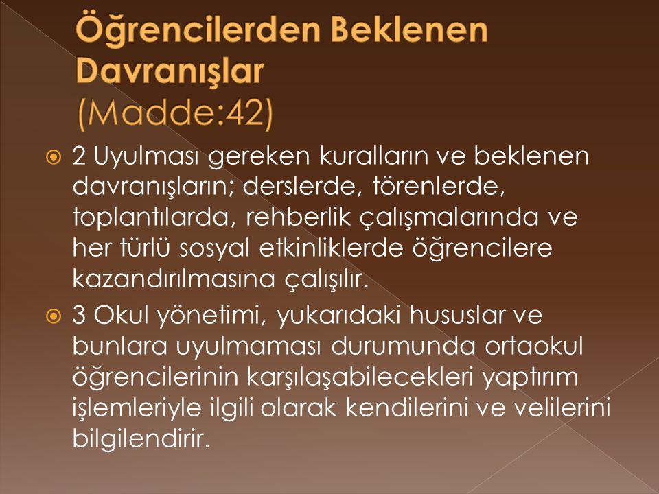  Puan ortalaması Türkçe dersinden 55.00, diğer derslerin her birinden 45.00 puandan aşağı olmamak şartı ile tüm derslerin dönem ağırlıklı puan ortalaması 70.00-84.99 olanlar Teşekkür , 85.00 puan ve yukarı olanlar Takdir belgesi ile ödüllendirilir