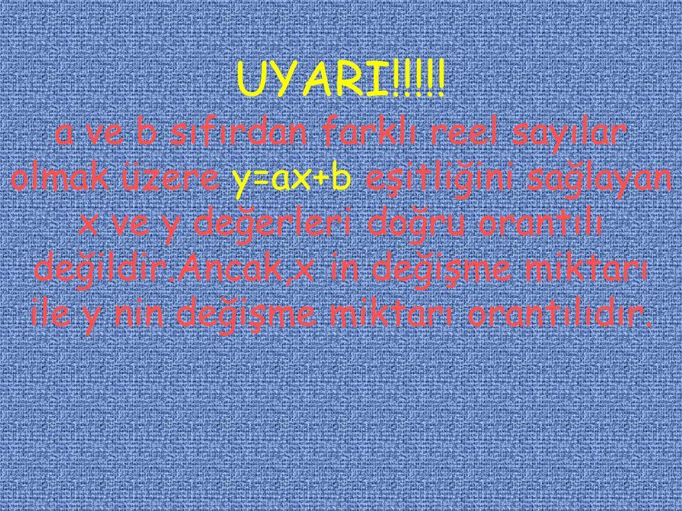 UYARI!!!! x,y,z sayıları sırasıyla a,b,c sayıları ile doğru orantılı ise ;