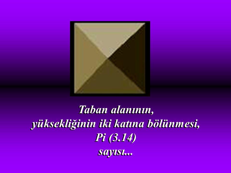 Piramidin üstünden geçen meridyen, karaları ve denizleri tam eşit iki parçaya bölüyor. Piramidin üstünden geçen meridyen, karaları ve denizleri tam eş